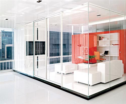 office design glass walls photo - 2