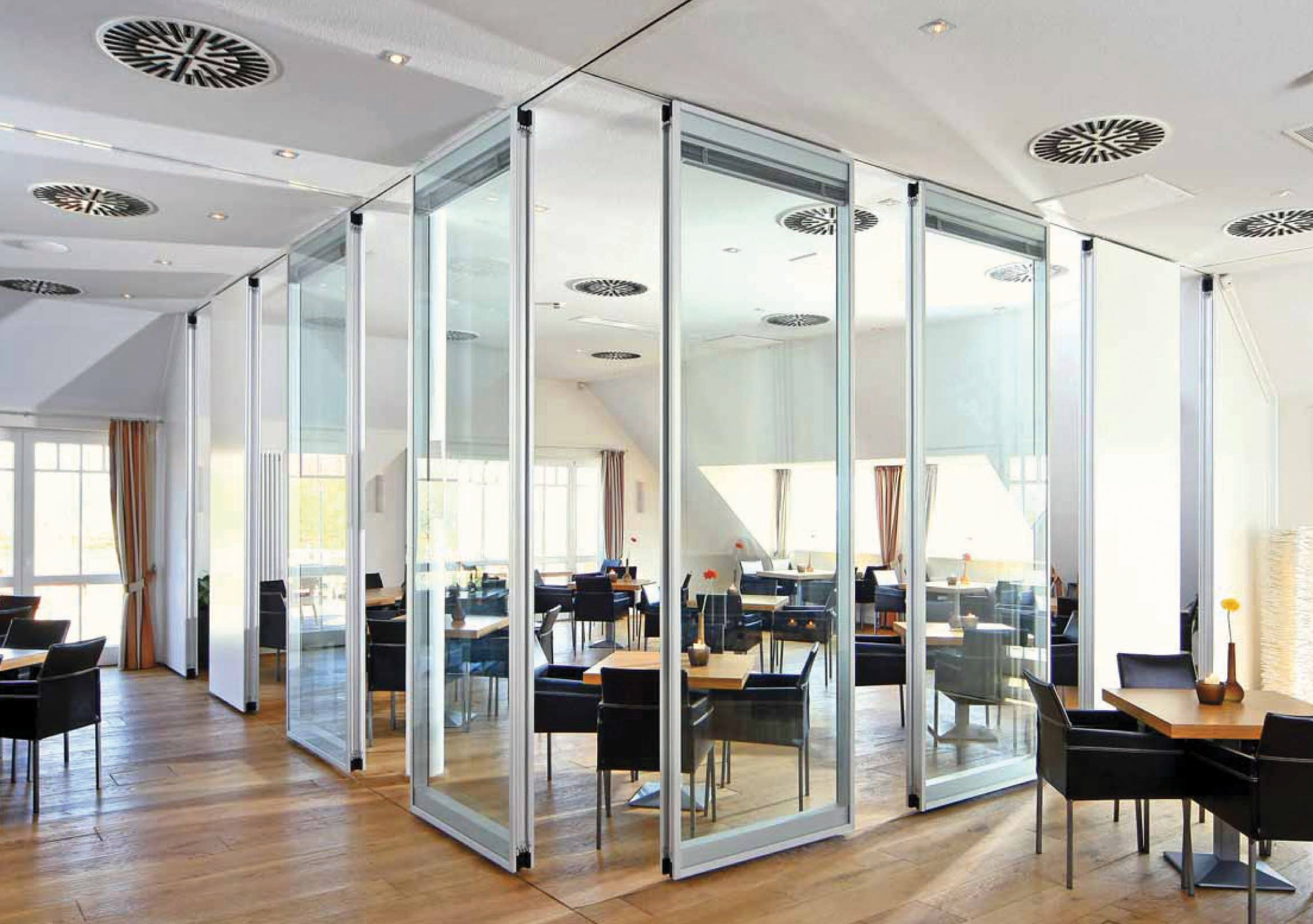 office space with glass walls photo - 1