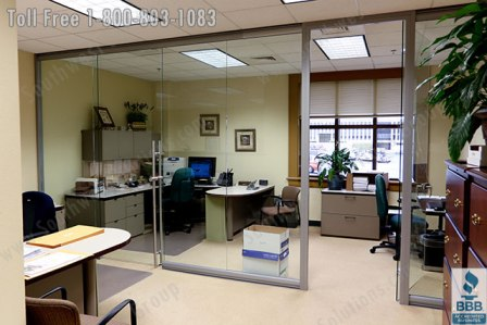 office space with glass walls photo - 4