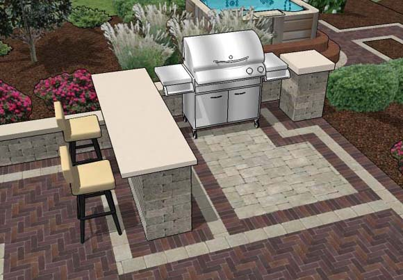 outdoor patio grill ideas belgard patio with built in grill surround by hawthorn woods il patio - Patio Grill Ideas