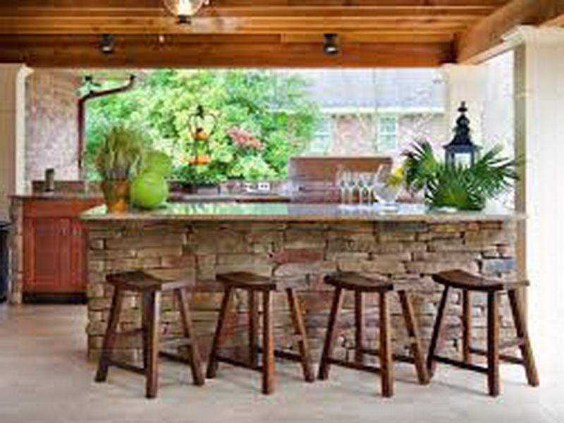 outdoor bar counter designs photo - 1