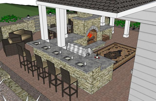 outdoor bar counter designs photo - 3