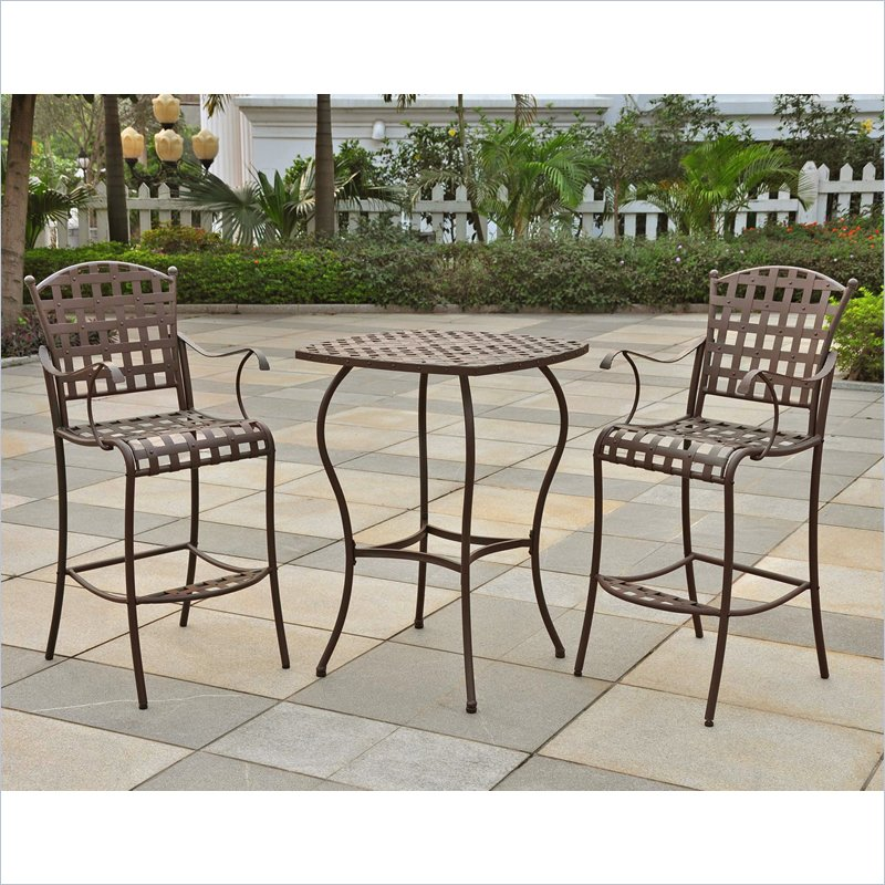 outdoor bar height bistro sets photo - 1