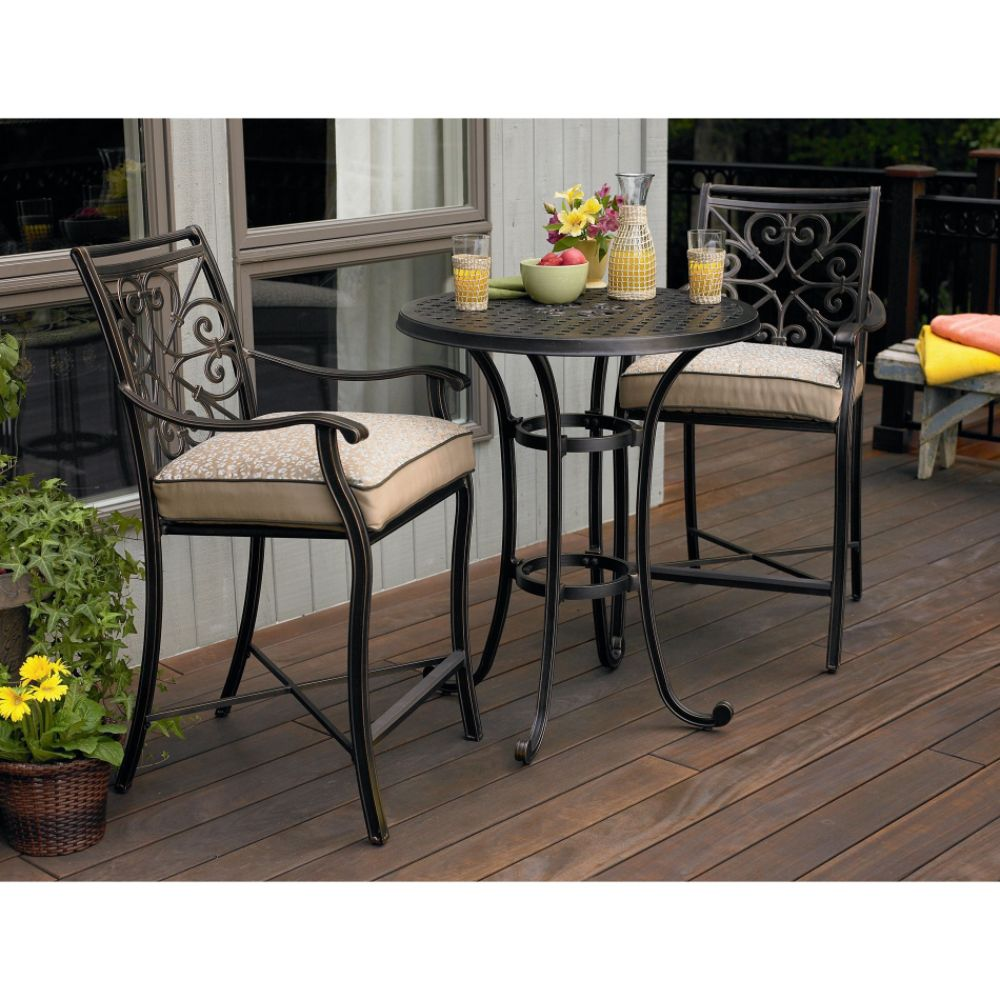 outdoor bar height bistro sets photo - 5
