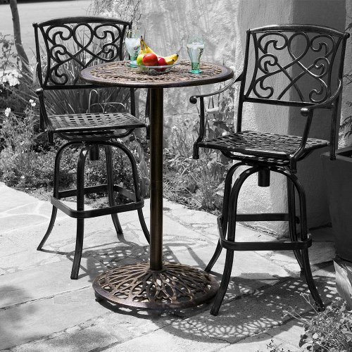 outdoor bar height bistro sets photo - 6