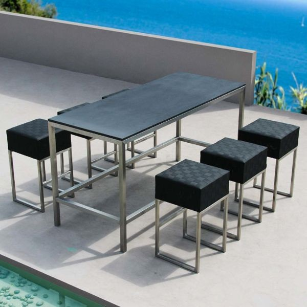 outdoor bar height furniture sets photo - 5