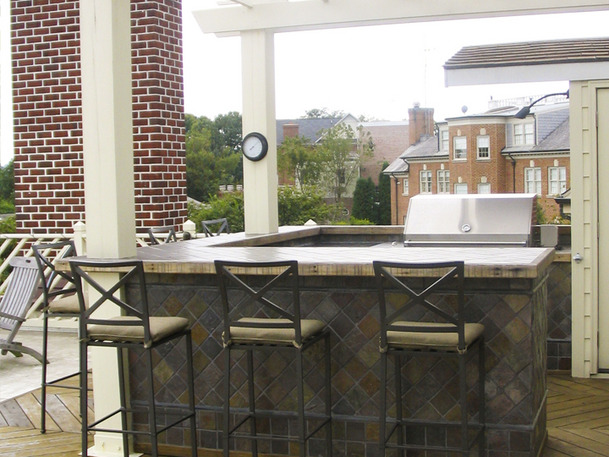outdoor bar roof design photo - 4