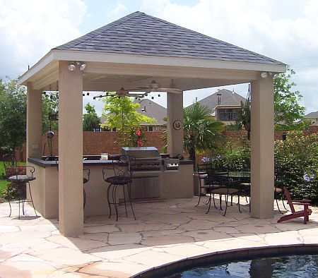 outdoor bar roof design photo - 6