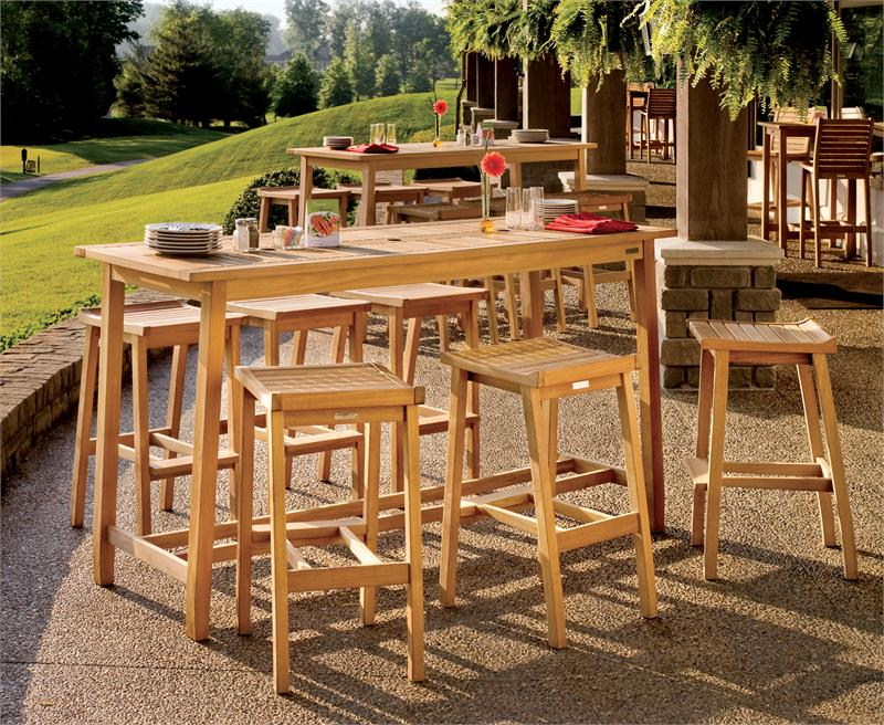 wood patio furniture bar patio amp outdoor