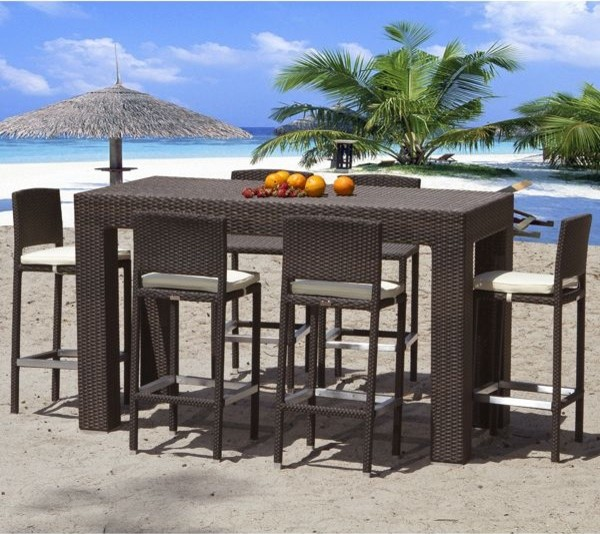 outdoor bar table design photo - 4
