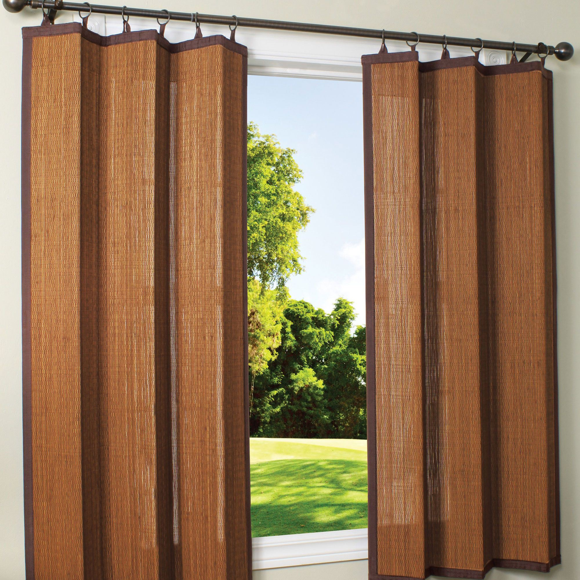 outdoor curtains bamboo photo - 3