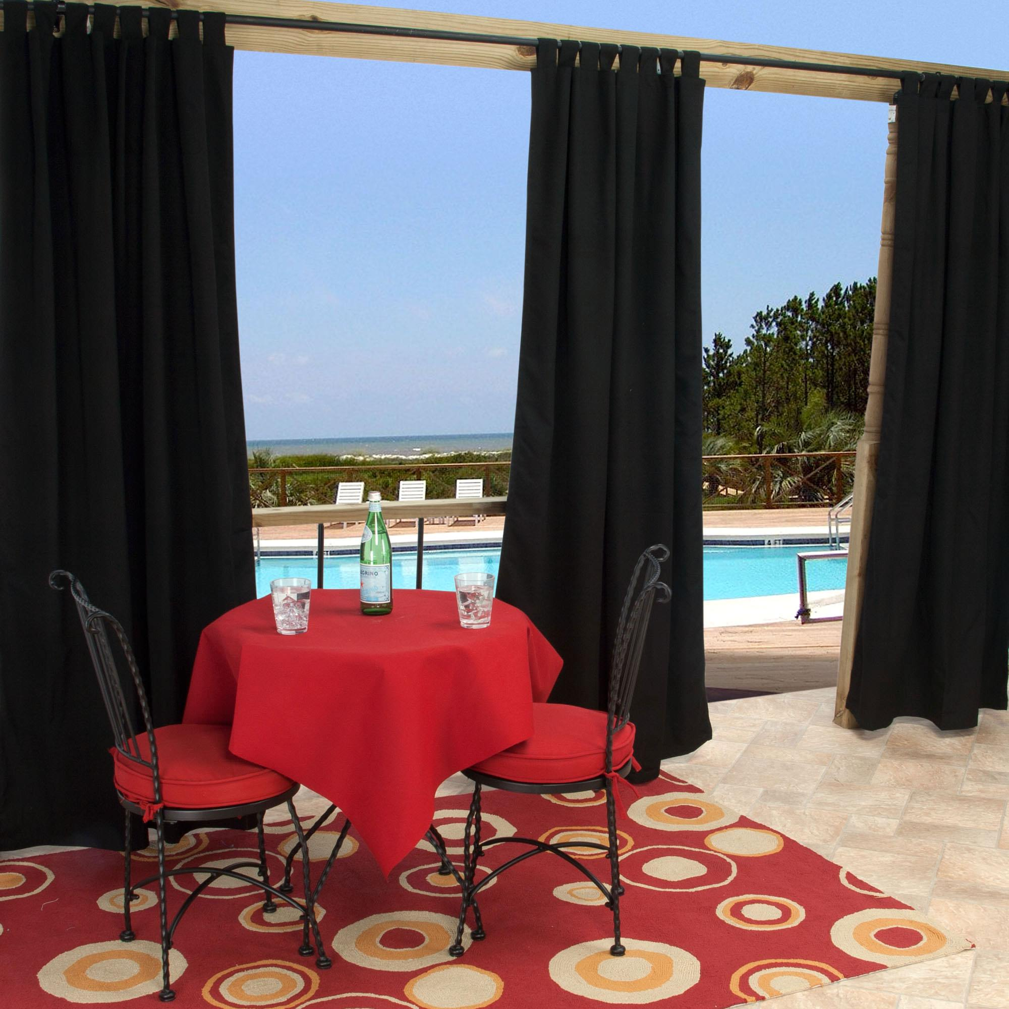 outdoor curtains black