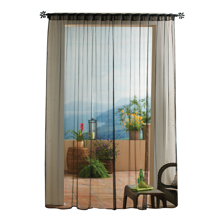 outdoor curtains black photo - 2