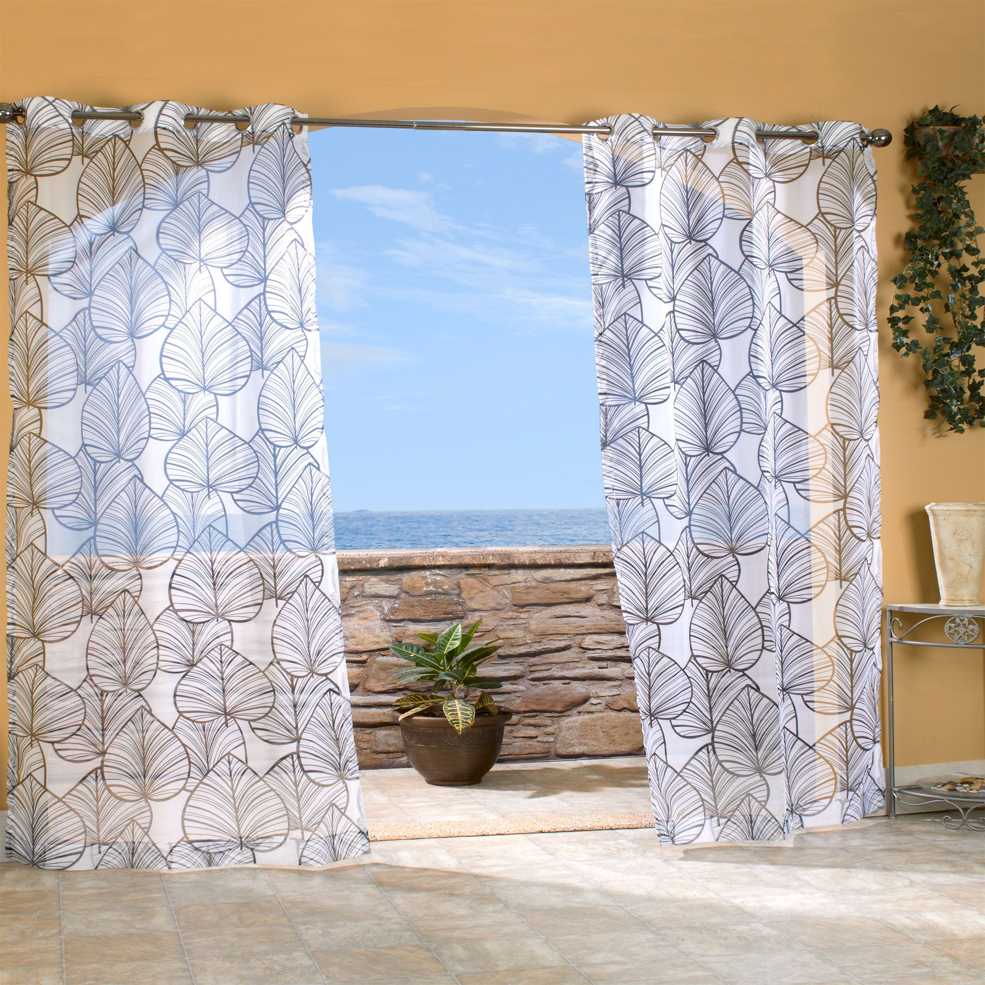 outdoor curtains black photo - 4