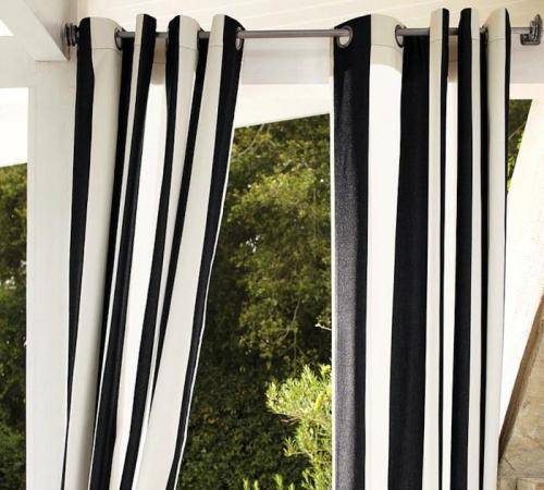 outdoor curtains black photo - 5
