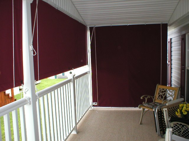 outdoor curtains block wind photo - 3