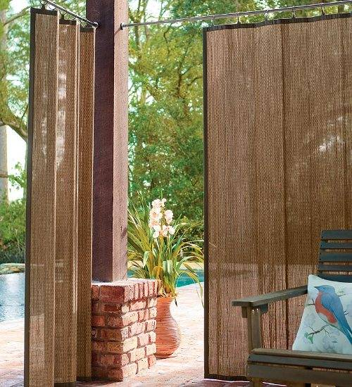 outdoor curtains block wind photo - 5