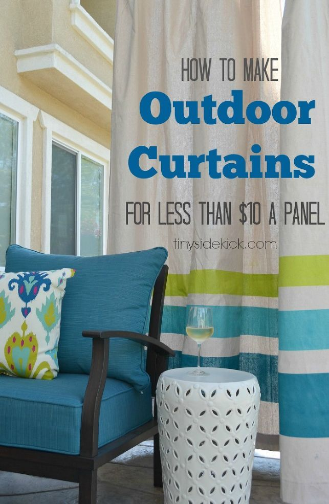 outdoor curtains diy photo - 2