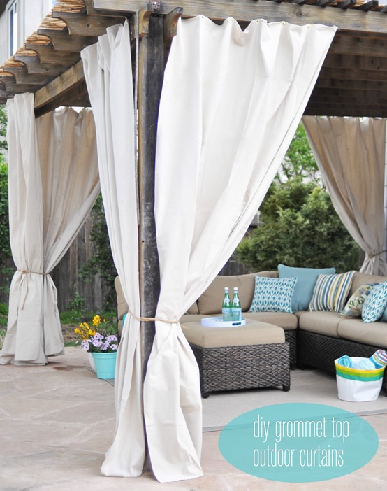 outdoor curtains diy photo - 5