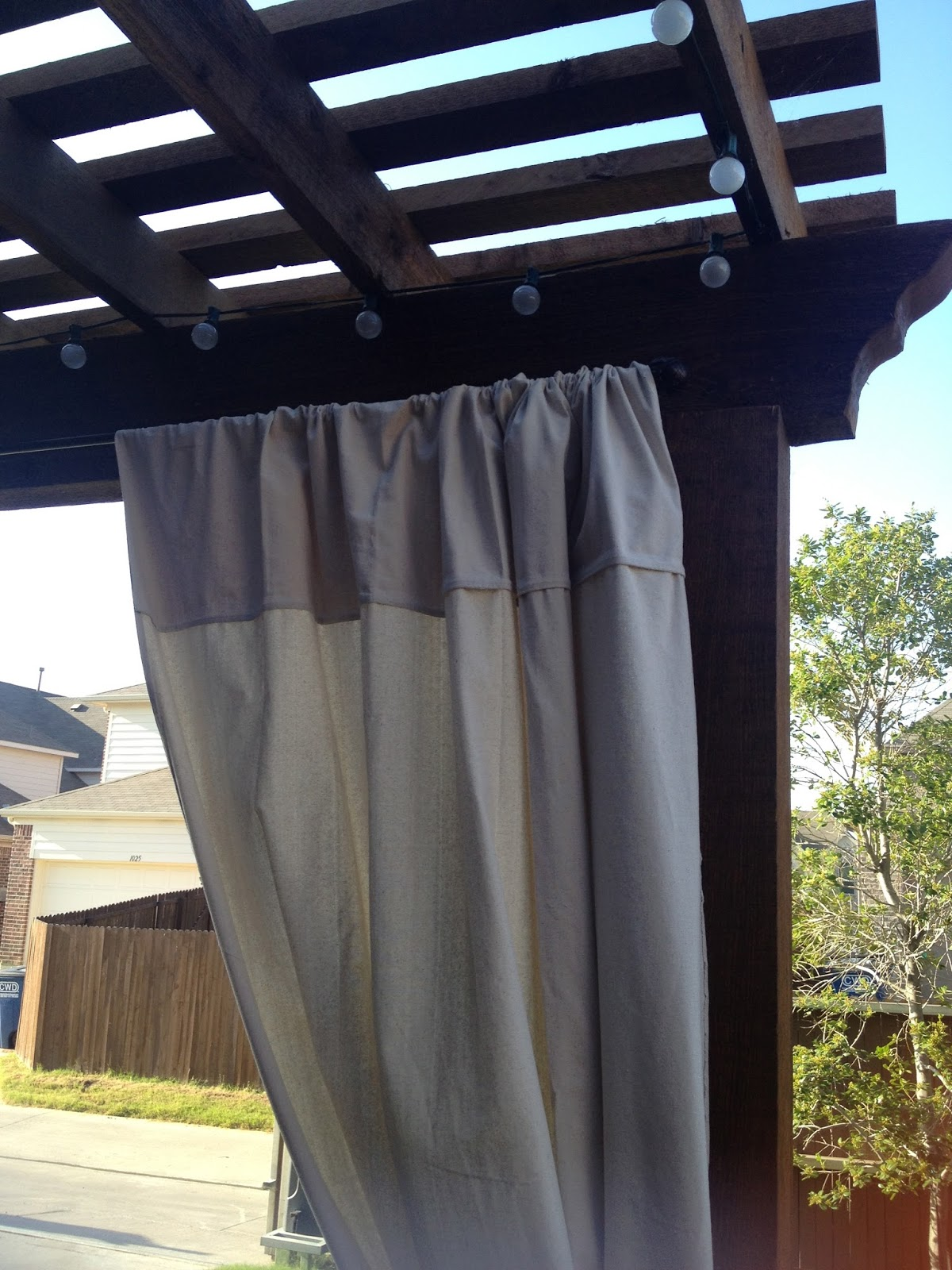 outdoor curtains diy photo - 6