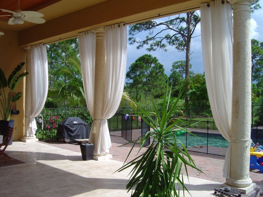 outdoor curtains for patio photo - 1
