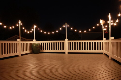 outdoor deck party lights photo - 1