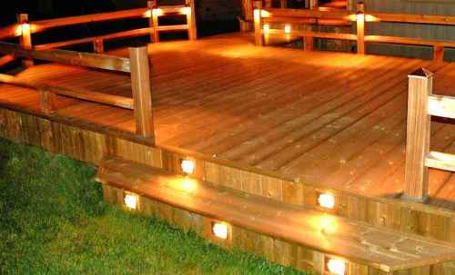 outdoor deck party lights photo - 2