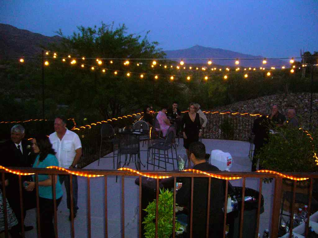 outdoor deck party lights photo - 5