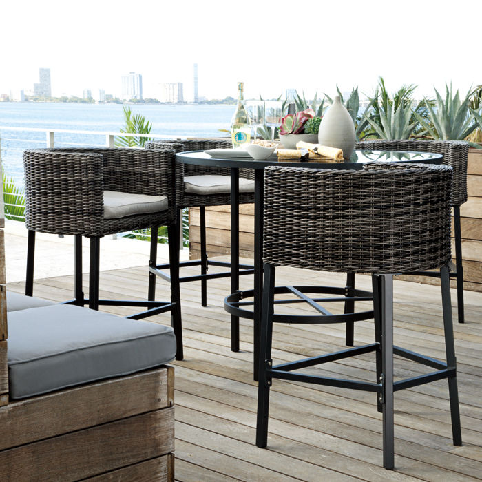 outdoor dining sets bar height photo - 1