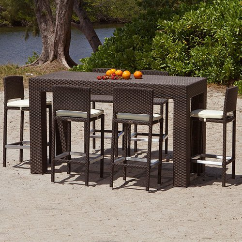 outdoor dining sets bar height photo - 2