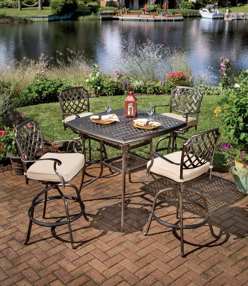 outdoor dining sets bar height photo - 4
