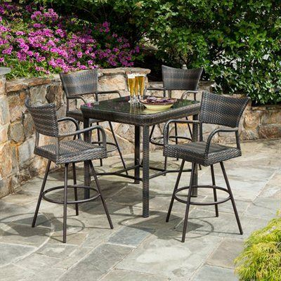 outdoor dining sets bar height photo - 5