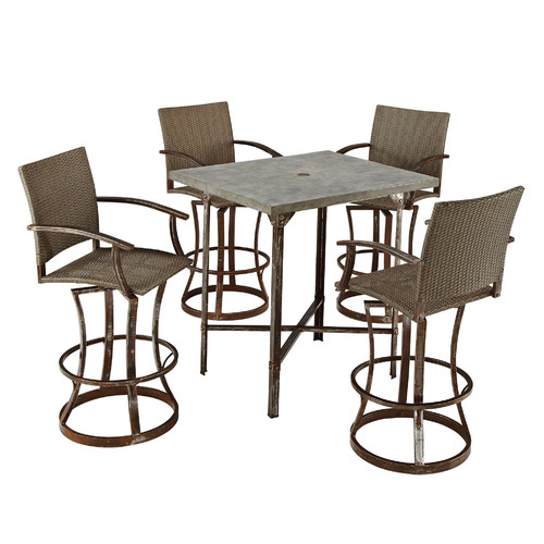 outdoor dining sets bar height photo - 6