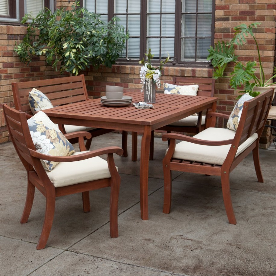 outdoor dining sets benches photo - 2