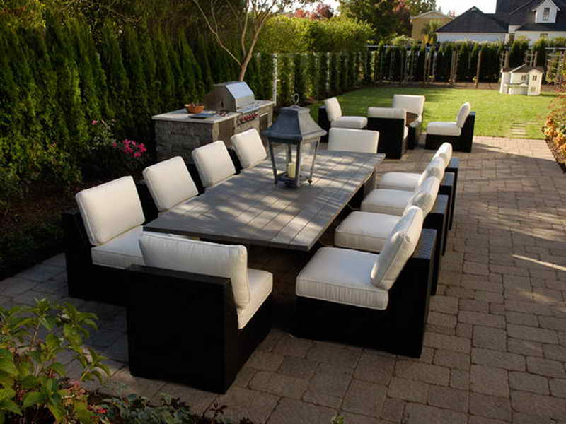 outdoor dining sets black photo - 1
