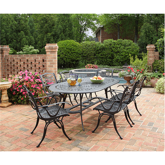 outdoor dining sets black photo - 3