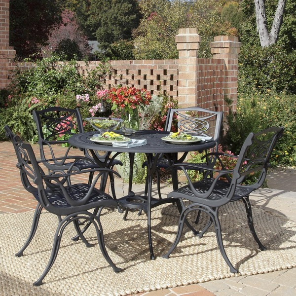 outdoor dining sets black photo - 4