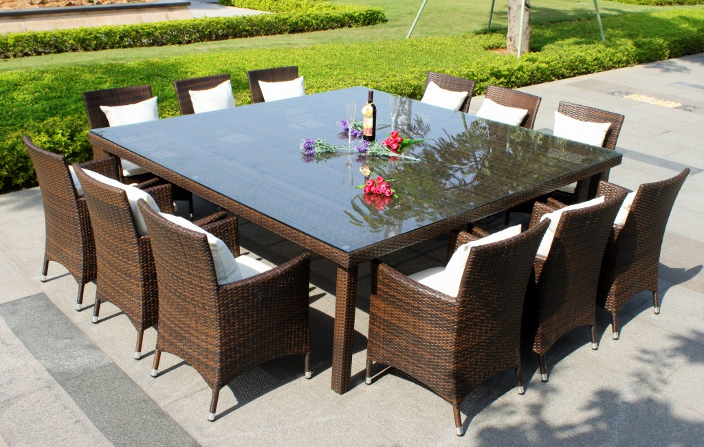 outdoor dining sets for 12 photo - 1