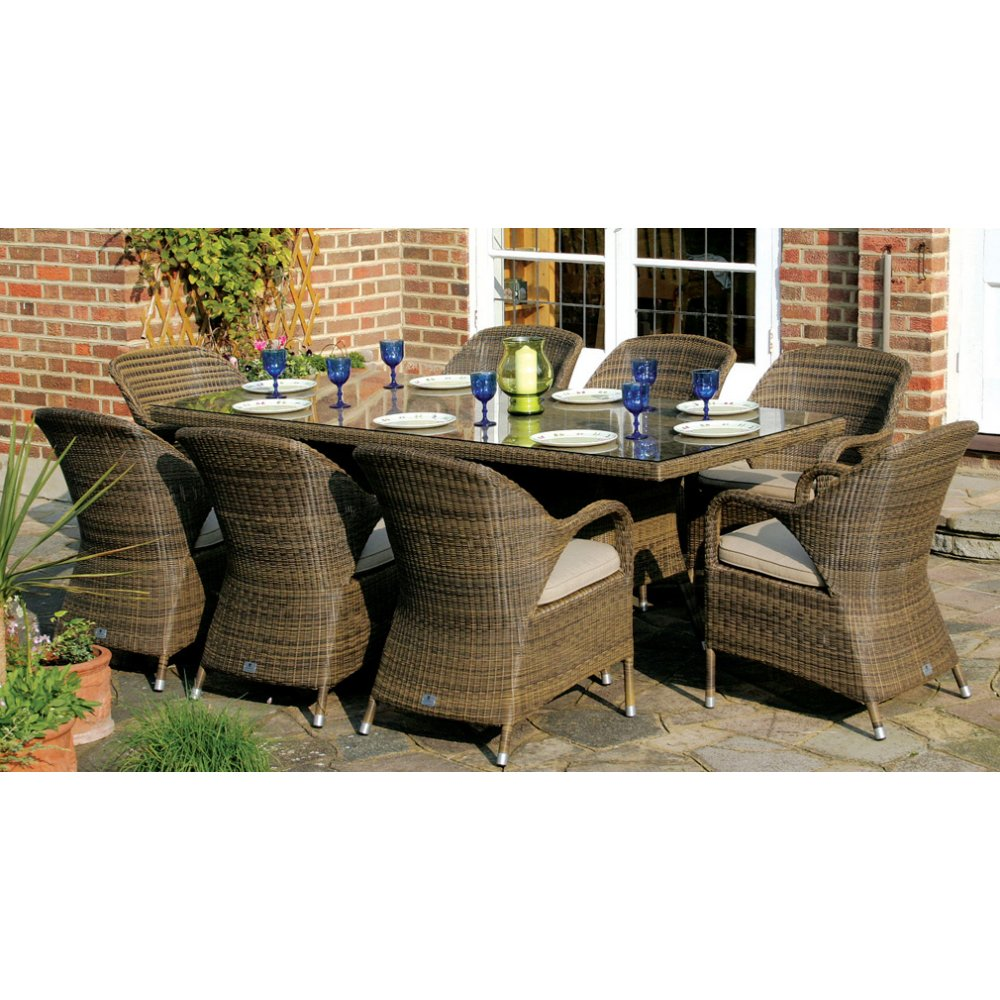 outdoor dining sets for 8 photo - 1