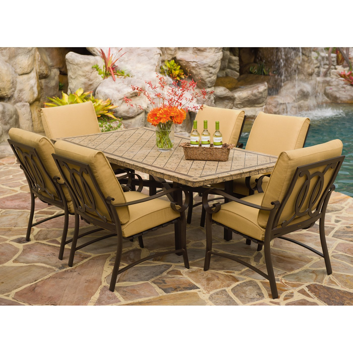 outdoor dining sets for 8 photo - 3