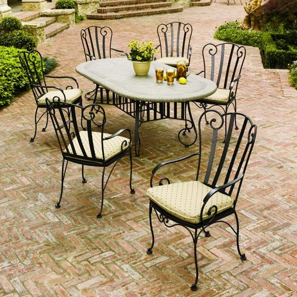 outdoor dining sets iron photo - 1