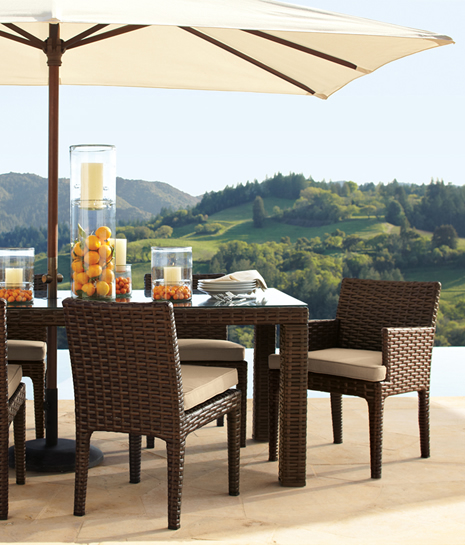 outdoor dining sets pottery barn photo - 1