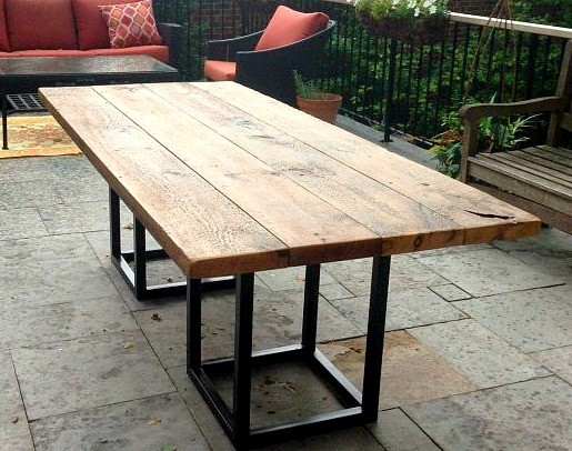outdoor dining table base photo - 1