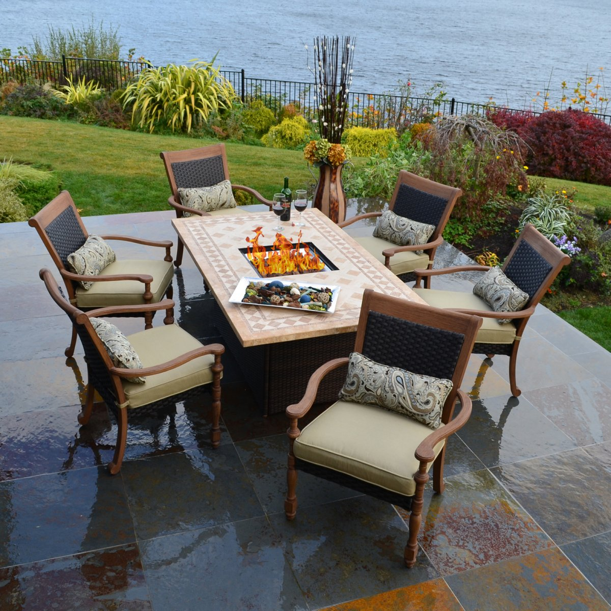 outdoor dining table decorating photo - 6