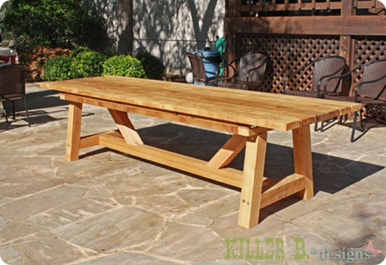 outdoor dining table design photo - 4