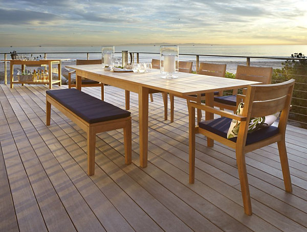 outdoor dining table design photo - 6