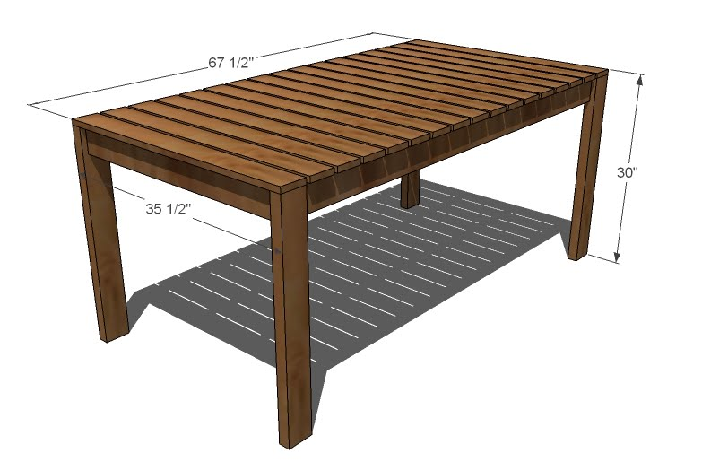 outdoor dining table dimensions photo - 1