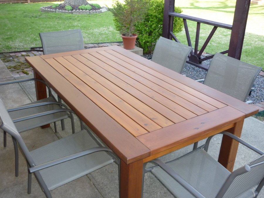 outdoor dining table dimensions photo - 3