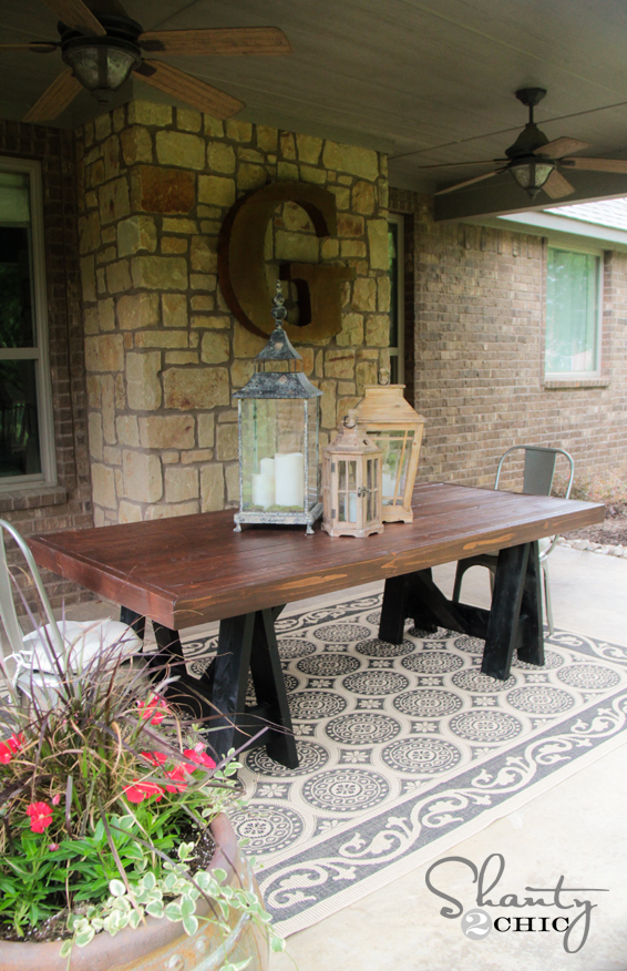 outdoor dining table diy photo - 1