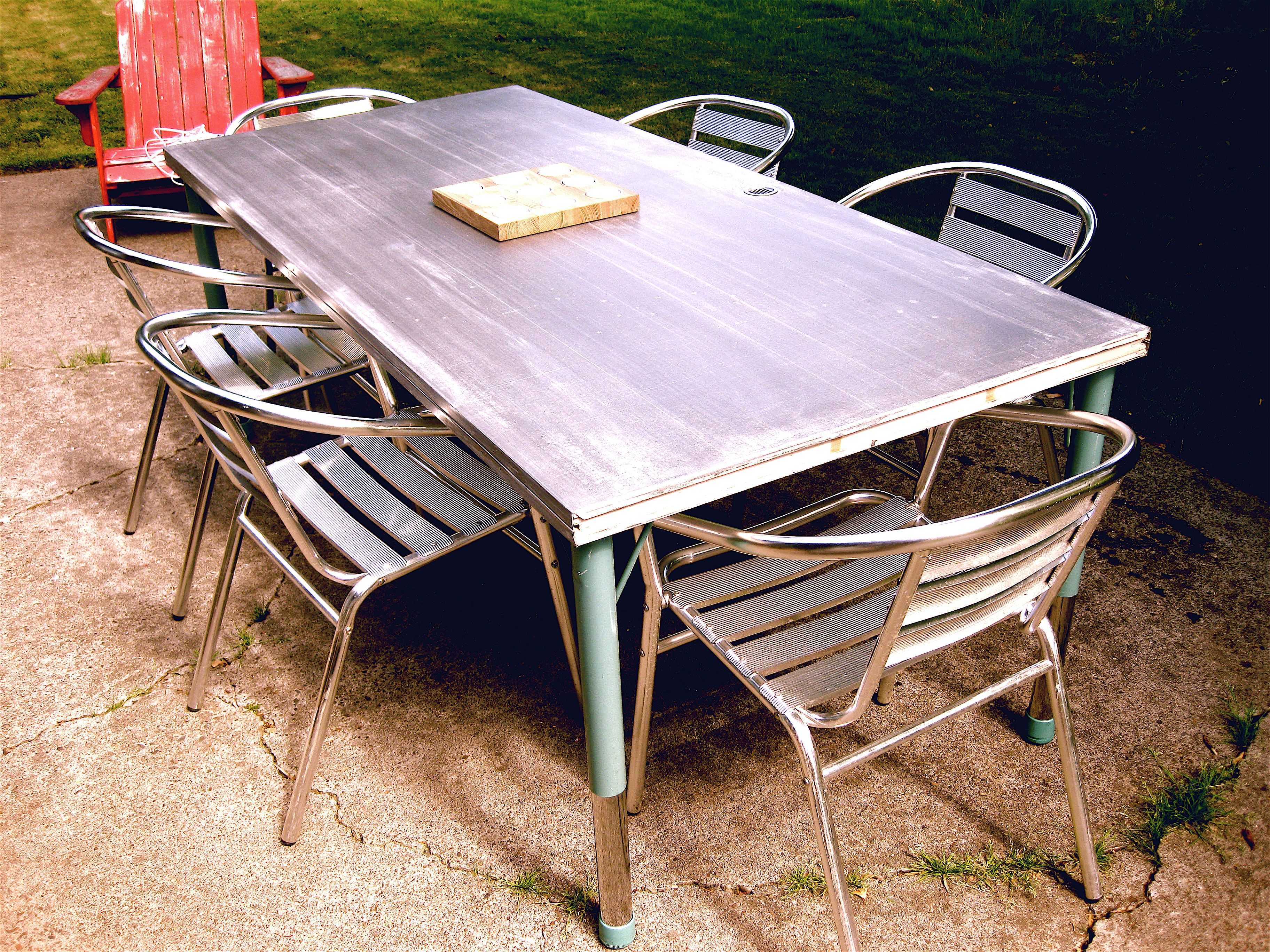 outdoor dining table diy photo - 2